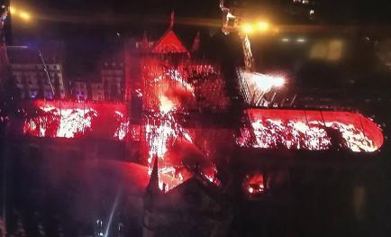 incendie notre Dame de Paris